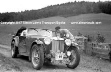 MG TA  ABL 960  Mrs Freda Elliot  on 1938 Scottish Rally. Photo